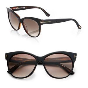 New TOM FORD Brown Cat Eye Sunglasses